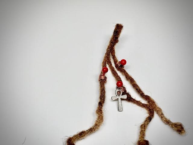 ankh loc jewelry set red