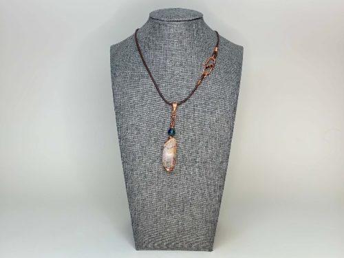 Quartz crystal necklace jewelry