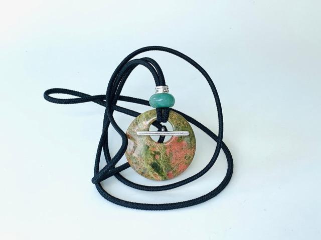 Natural Unakite and Green Aventurine is dreadlock accessories with healing properties
