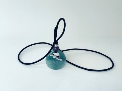 Green Aventurine and Amethyst crystal hair tie that can worn as jewelry